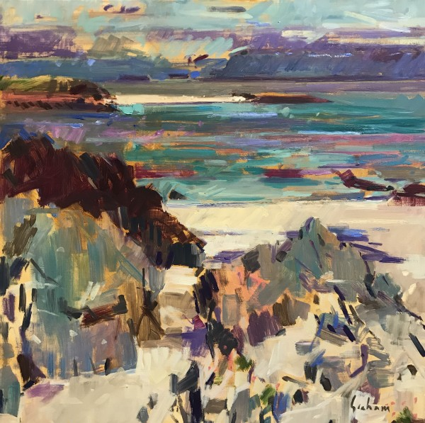 Peter Graham ROI, Turquoise Waters, Iona, 2017