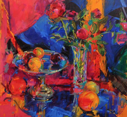 Peter Graham ROI, Peonie Roses