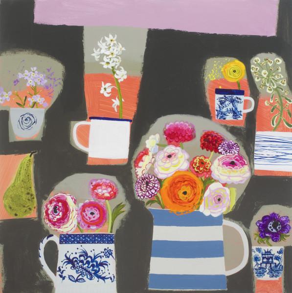 Emma Dunbar, Studio Table with Magnolia Outside