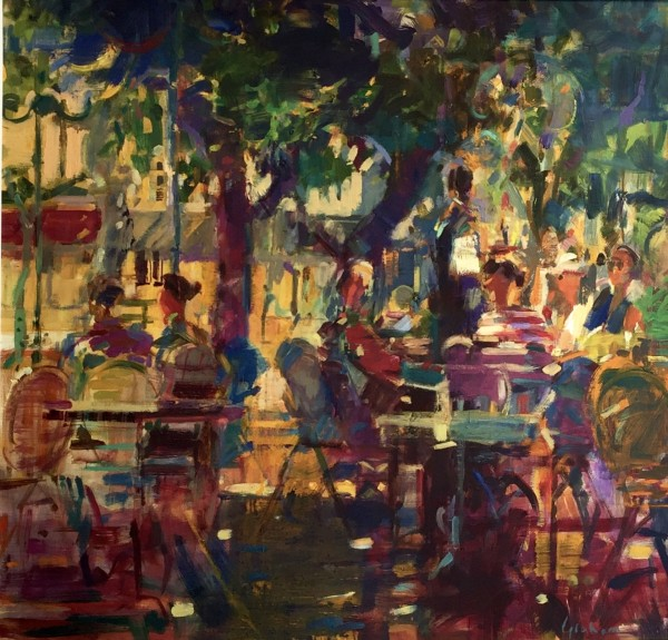 Peter Graham ROI, Cafe des Arts, St Tropez, 2016