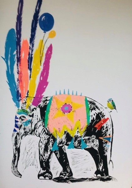 Millie McCallum, Elephant with Two Balloons