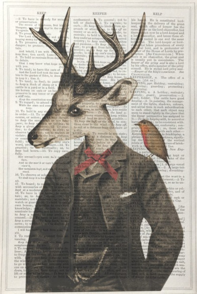 Framed Prints, Stag Gentleman