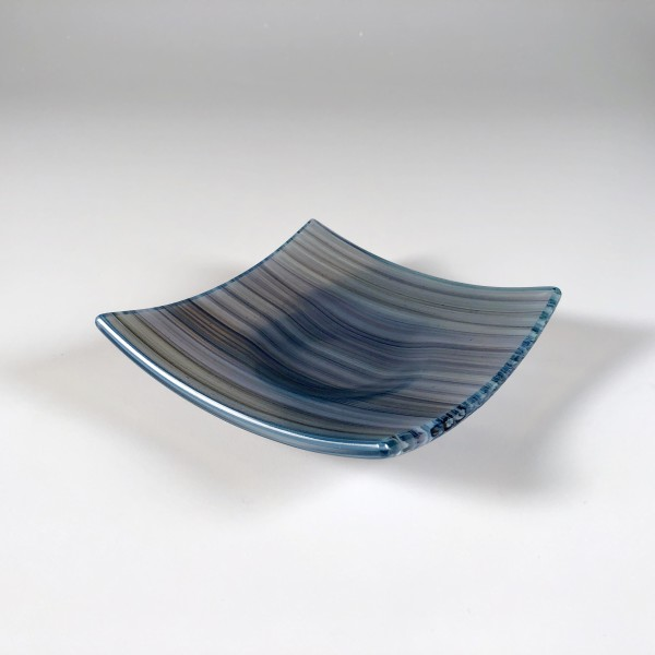 Opaline Cane Dish (Gray/Blue) 01