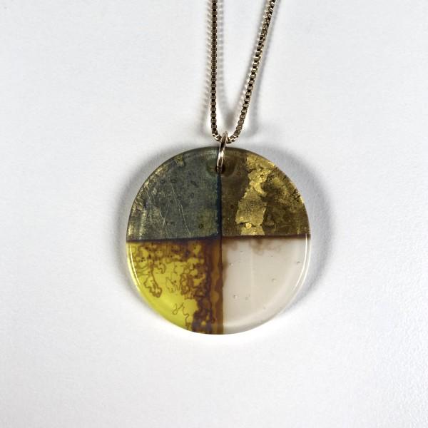 Quadrant Series - Glass Pendant Necklace No. 4