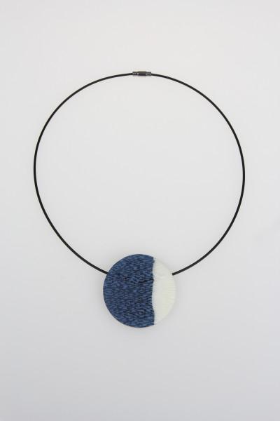 Grey, Blue, and White Circle Pendant
