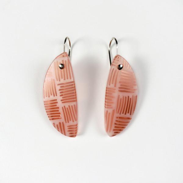 Orange Wedge Earrings