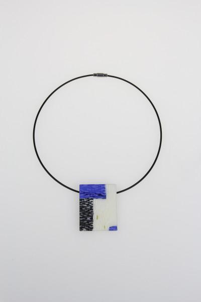 Bright Blue Rectangle Pendant