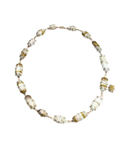Meta Banded Strattite Necklace
