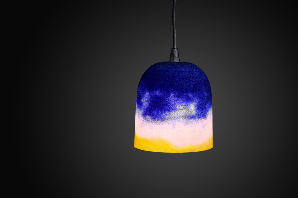 Joshua Kerley, Sinter Pendant Light - Yellow, Pink, and Cobalt, 2020
