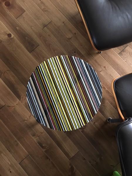 Romy Randev, Black Striped Table 1, 2017