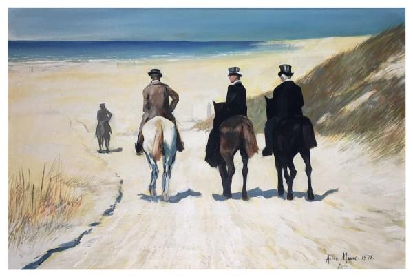 Morning Ride on the Beach - Original