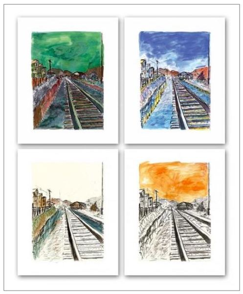 Train Tracks (set of 4), 2008 - CALL FOR PRICE
