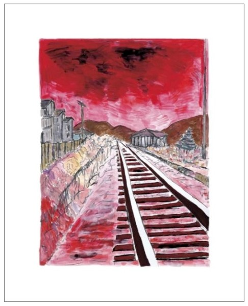 Bob Dylan, Train Tracks (red), 2010
