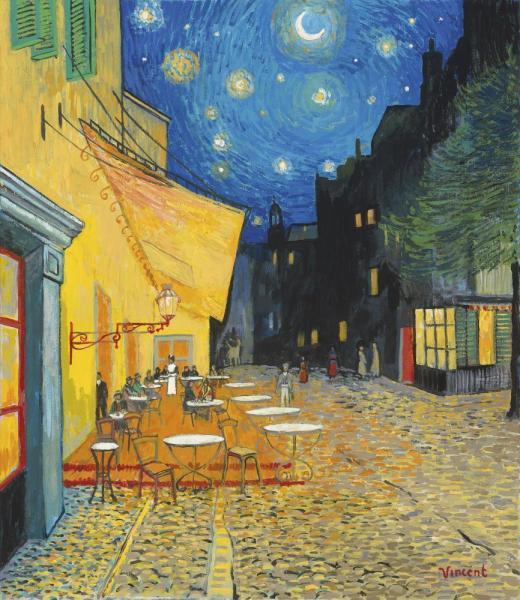 Starry Night With Café Terrace, Place Du Forum