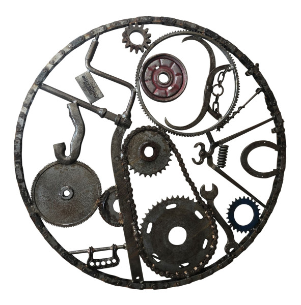 Iron Wall Hanging III (Large Circular Chain), 2013