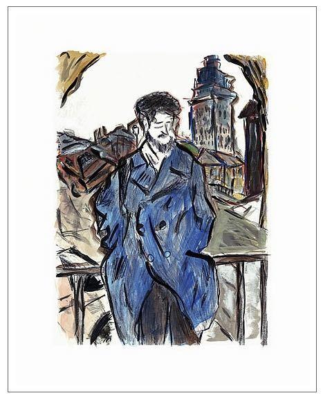 Man On A Bridge (dark blue), 2008