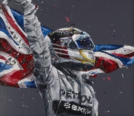 Lewis Hamilton's Flag