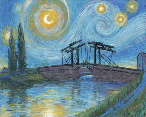 Starry Night With Drawbridge at Arles