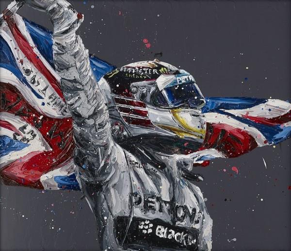 Lewis Hamilton / Union Lewis (canvas), 2017