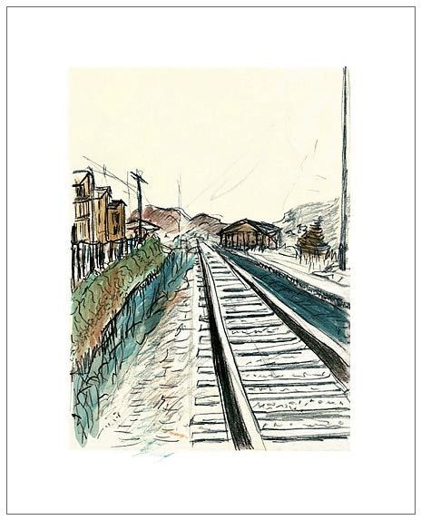 Bob Dylan, Train Tracks (white), 2008