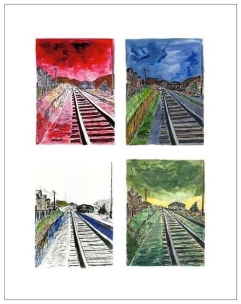 Train Tracks (set of 4), 2010