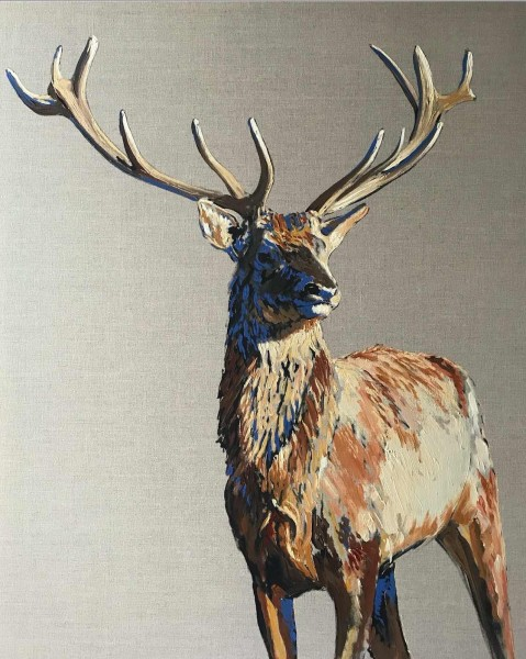 Stag on Linen, 2017