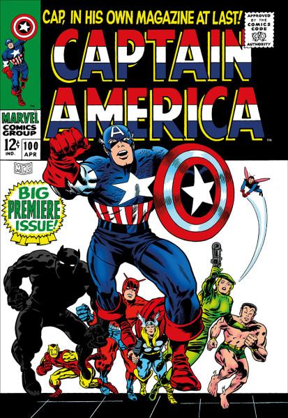 Captain America #100 - Big Premiere Issue! (canvas)