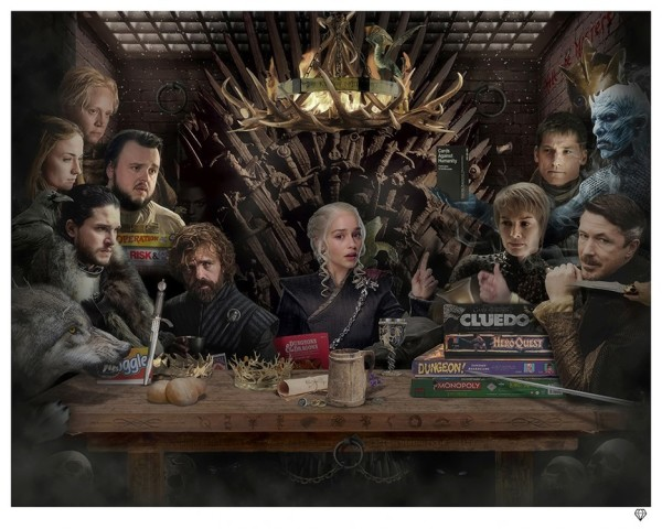 Board-Game of Thrones - Black & White