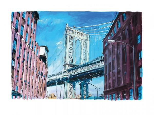 Manhattan Bridge, Downtown New York - Medium, 2016