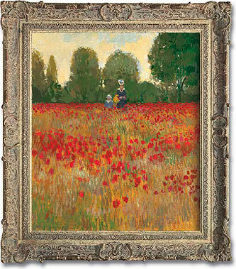 Camille and Jean Monet in a Poppyfield, 1873