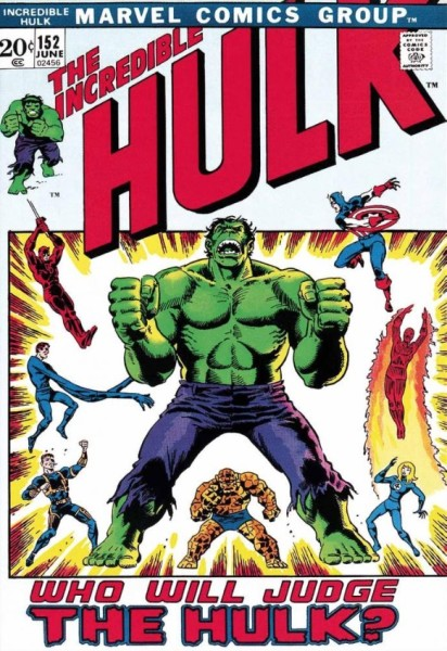 The Incredible Hulk #152 - Who Will Judge The Hulk? (canvas)