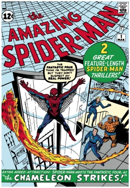 The Amazing Spider-Man #1: Spider-Man Meets The Fantastic Four (canvas)