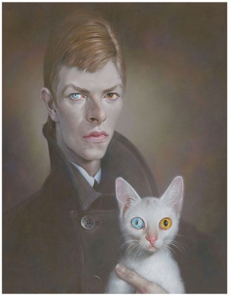 Young man with cat, 2013