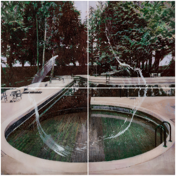 Gil Heitor Cortesāo, Circular Pool (Quadriptych), 2017
