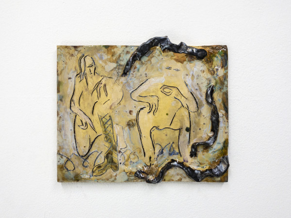 Monika Grabuschnigg Moonshine elation, 2021 Glazed ceramic 26.5 x 22.5 x 2 cm 10 3/8 x 8 7/8 x 3/4 in