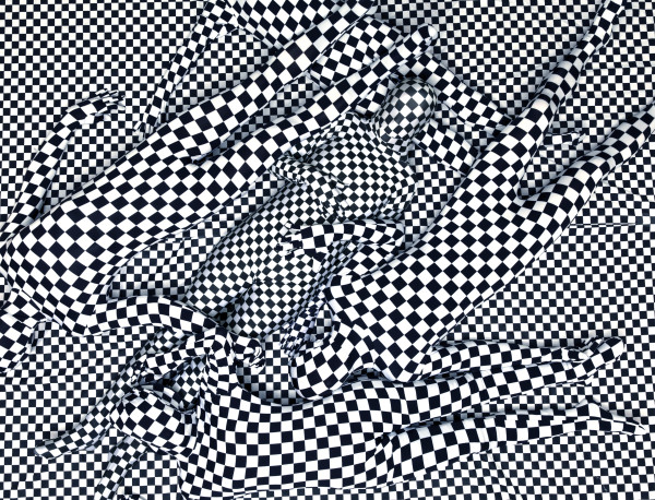 Olaf Breuning, Black and white pattern people, 2013