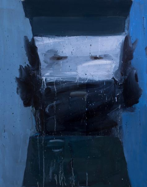 Amir Khojasteh Sad Fighter #4, 2020 Oil on canvas 83 x 64 cm 32 5/8 x 25 1/4 in
