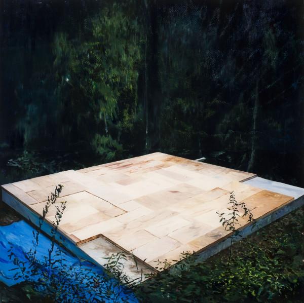 Gil Heitor Cortesāo Platform, 2012 Oil on Plexiglas 84 x 84 cm 33 1/8 x 33 1/8 in
