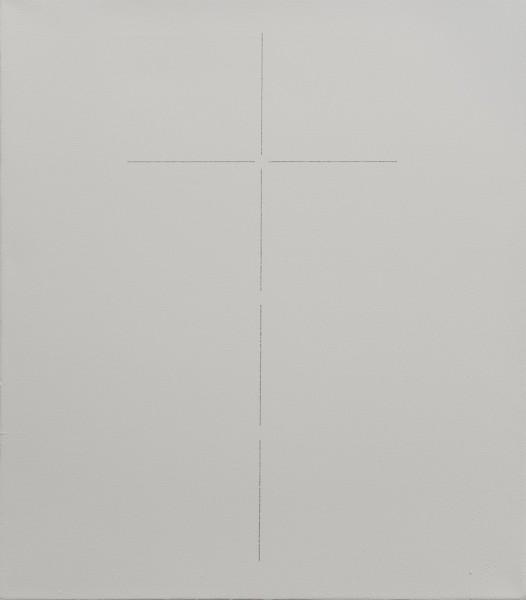 ZIERVOGEL Kreuz, 2013 Ink on gesso primed canvas 60 x 50 cm 23 5/8 x 19 3/4 in