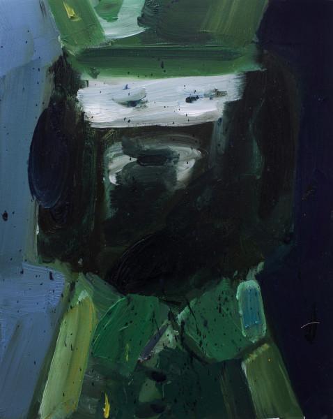 Amir Khojasteh  Comandante, 2018  Oil on canvas  35 x 28 cm  13 3/4 x 11 1/8 in