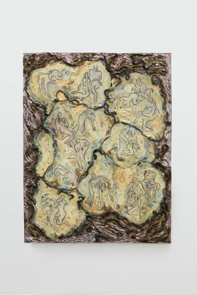Monika Grabuschnigg Rite of passage, 2020 Glazed ceramic 105 x 84 x 3 cm 41 3/8 x 33 1/8 x 1 1/8 in