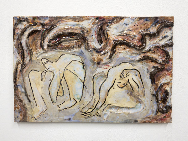 Monika Grabuschnigg Oil, pitch & gum, 2021 Glazed ceramic 25.5 x 38 x 3 cm 10 1/8 x 15 x 1 1/8 in