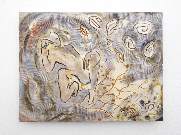 Monika Grabuschnigg Delay, 2021 Glazed ceramic 24 x 32 x 1 cm 9 1/2 x 12 5/8 x 3/8 in