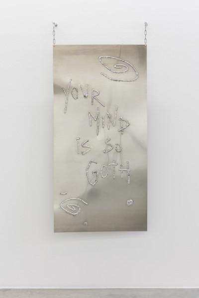 Monika Grabuschnigg Goth, 2021 Aluminium 150 x 75 x 0.4 cm 59 1/8 x 29 1/2 x 1/8 in