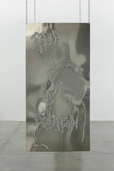 Monika Grabuschnigg Razed, 2021 Aluminium 150 x 75 x 0.4 cm 59 1/8 x 29 1/2 x 1/8 in