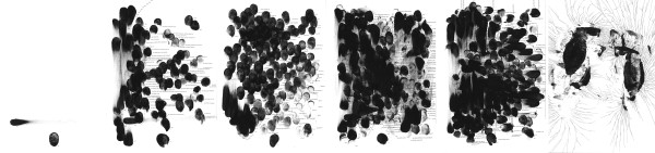 ZIERVOGEL Eskimolied, 2013 Ink and gouache on paper Six panels 24 x 18 cm each 9 1/2 x 7 1/8 in each