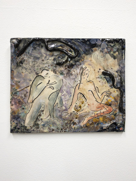 Monika Grabuschnigg Swamp, 2021 Glazed ceramic 25 x 30 x 3 cm 9 7/8 x 11 3/4 x 1 1/8 in