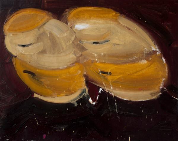 Amir Khojasteh Studies of The Head of The Orange Man, 2019 Oil on canvas 36 x 46 cm 14 1/8 x 18 1/8 in