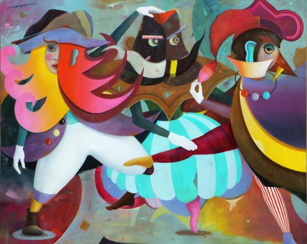 Bernhard Buhmann Macarena, 2014 Oil and acrylic on canvas 200 x 250 cm