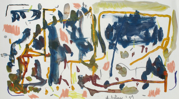 André Butzer Untitled, 2011 Oil and water color on paper 33 x 58 cm 13 x 22 7/8 in
